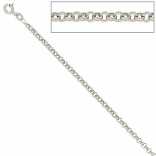 Erbskette 925 Sterling Silber 2, 5 mm 70 cm Halskette Federring