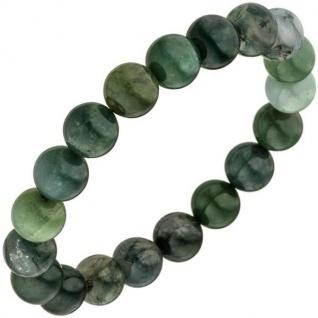 Armband Moosachat grün 19 cm Moosachatarmband elastisch