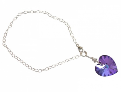 Herz Armband *blau-violett* Silber-with Swarovski Elements®
