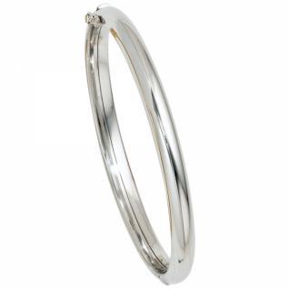 Armreif Armband oval 585 Gold Weißgold Goldarmreif Kastenschloss