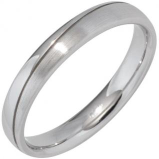Partner Ring 925 Sterling Silber rhodiniert mattiert