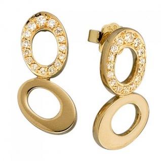 Ohrstecker 585 Gold Gelbgold 30 Diamanten Brillanten 0, 30 ct.