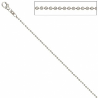 Kugelkette 925 Silber 1, 4 mm 42 cm Halskette Silberkette Karabiner