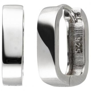 Creolen 925 Sterling Silber 14, 8 mm Ohrringe Silbercreolen