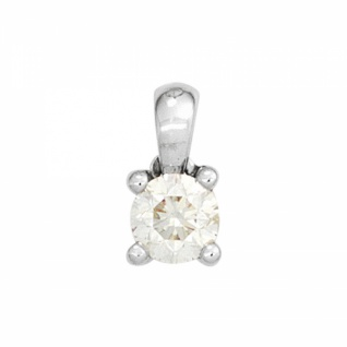 Anhänger 585 Weißgold mit 1 Diamant Brillant 0, 20ct.