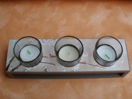 Teelichthalter fine flowers für 3 Teelichter