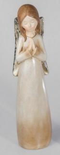 formano stehende Engel Figur im Landhausstil aus Keramik, creme, 57 cm