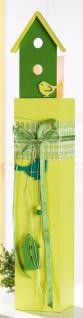 GILDE Deko-Ständer als Windlicht in Gelb mit Häuschen, 56 cm