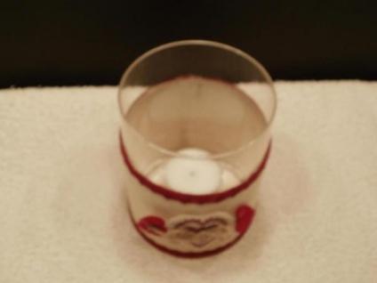 Windlicht Herz aus Klarglas, 11, 5 cm hoch - Vorschau 2
