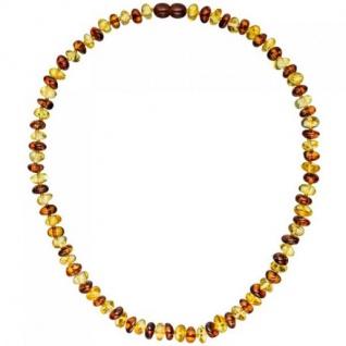Halskette Collier Bernstein bicolor 45 cm Halskette Bernsteinkette