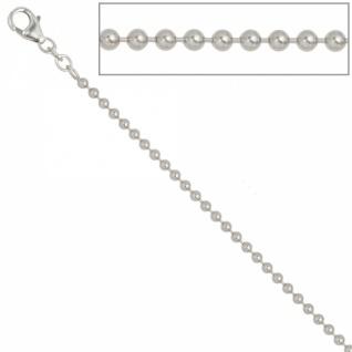 Kugelkette 925 Silber 2, 5 mm 45 cm Halskette Silberkette Karabiner