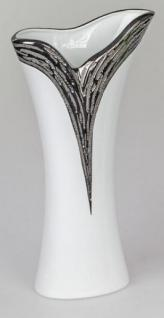 formano Vase in Edelweiß mit silberner Reaktionsglasur, 30 cm