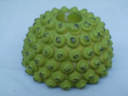 Kerzenhalter in Grün mit Noppen-Optik für Maxi-Teelichter, 10 cm