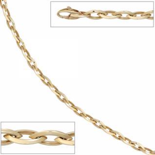 Armband 585 Gelbgold 19 cm - 6, 3 mm breit, Karabiner