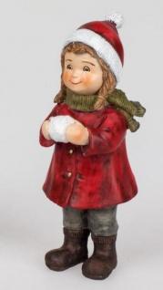 formano Dekofigur Winterkind Irene, stehend, klassik Rot, 16 cm