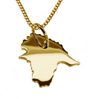 ESTLAND Kettenanhänger aus massiv 585 Gelbgold mit Halskette