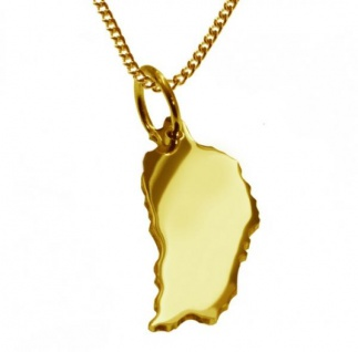 DOMINIKA Kettenanhänger aus massiv 585 Gelbgold mit Halskette