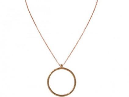Halskette Anhänger Eternity Kreis Geometrisch Design Rose 80 cm