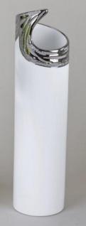 formano Vase in Edelweiß Zylinder aus Keramik, 30 cm