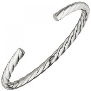 Armspange / offener Armreif 925 Sterling Silber Silberarmreif oval