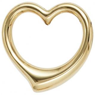 Kinder Anhänger Herz Schwingherz 333 Gold Gelbgold Herzanhänger