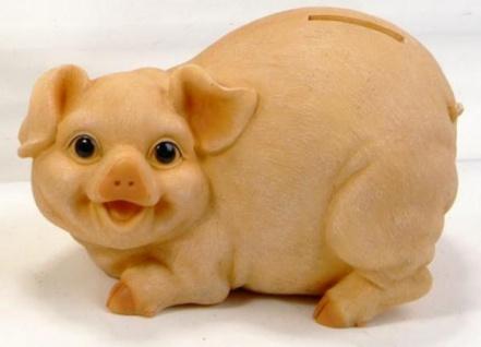 formano Spardose Sparschwein naturfarben, nach links schauend, 16 cm