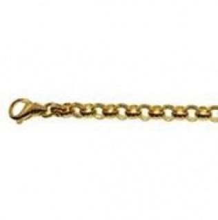 21 cm Erbskette Armband - 585 Gelbgold - 3, 5 mm