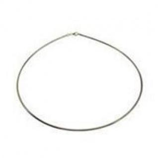 42 cm Omega Halsreif 333 Weißgold - 1, 2 mm Halskette