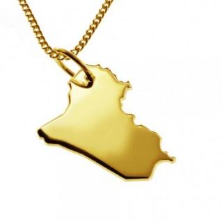 IRAK Kettenanhänger aus massiv 585 Gelbgold mit Halskette