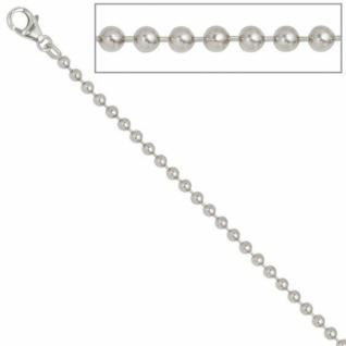 Kugelkette 925 Silber 3 mm 60 cm Halskette Kette Silberkette Karabiner - Vorschau