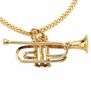 Anhänger Trompete 333 Gold Gelbgold Musik