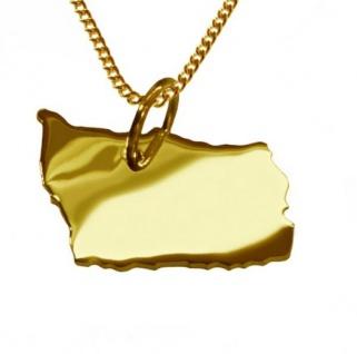 BORNHOLM Kettenanhänger aus massiv 585 Gelbgold mit Halskette