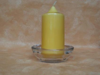 Kerzen- Teelichthalter - schwere Glasarbeit, 11 cm