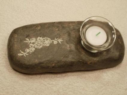 Teelichthalter auf Gipsstein