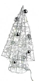 LED Drahtbaum LED-Pyramide Weihnachtsdekoration Aufsteller Baum mit Licht Dekobaum Weihnachtsdeko Tannenbaum Christbaum 40cm Groß