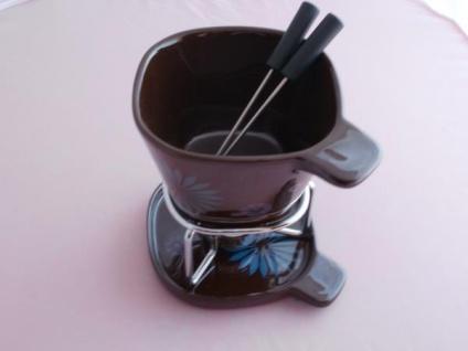 Fondue-Becher-Set flower aus Keramik - Vorschau 3