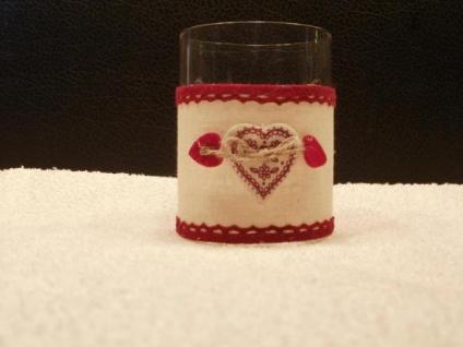 Windlicht Herz aus Klarglas