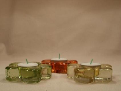 3 Teelichthalter Blume - ca. 8 cm Durchmesser - Vorschau 2