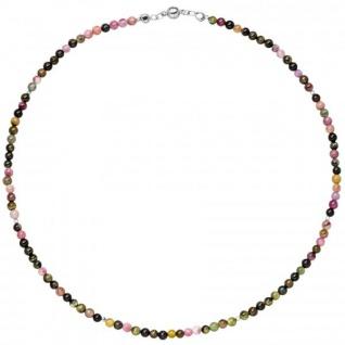 Halskette Kette Turmalin und Hematin 45 cm