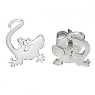 Kinder Ohrstecker Gecko 925 Sterling Silber rhodiniert Ohrringe Kinderohrringe