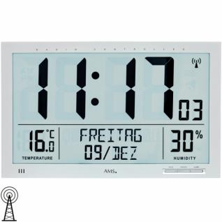 AMS 5888 Wanduhr Tischuhr Funk digital Datum Thermometer Wecker