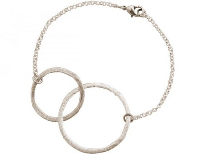 Damen Armband Eternity Kreise Infinity Minimalistisch Design Silber