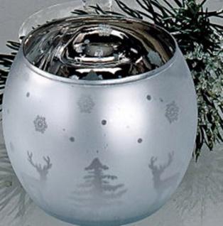 formano Windlicht Winterweiß Elch und Tannenbaum, 10 cm