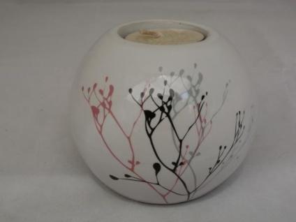 Teelichthalter Kugel aus Keramik, 8, 5 cm