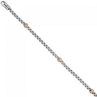 Armband 585 Weißgold Rotgold bicolor 39 Diamanten Brillanten 19 cm