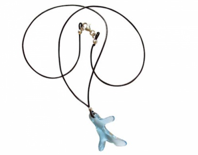 Halskette Koralle *Aquamarin* Silber WITH SWAROVSKI ELEMENTS®