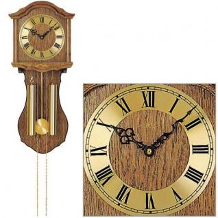 AMS 248/4 Wanduhr mit Pendel mechanisch Holz Eiche Heimuhr Pendeluhr