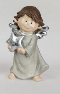formano Engel Figur, Weihnachtsengel aus Kunststein in Creme, 22 cm
