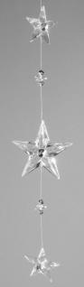 Dekohänger Sterne klar aus Acryl, 40 cm