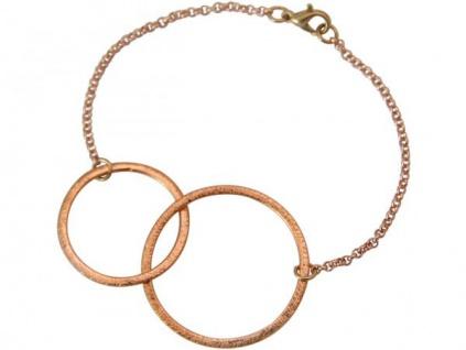 Gemshine Damen Armband Eternity Kreise Infinity Design Rose